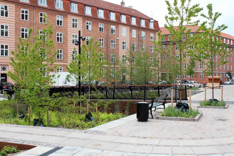Tåsinge Plads 2015 Klimakvarter LAR København Klimatilpasning
