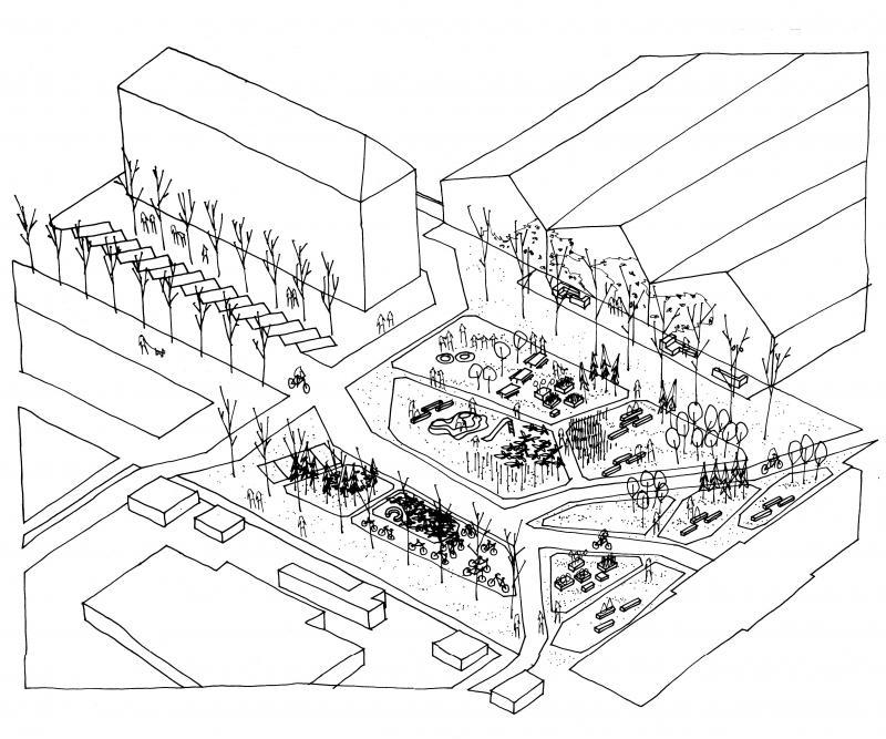 Tegning af PARK architects